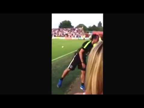 Meeting Roberto Martinez at Accrington Stanley-Accrington Stanley vs Everton 2013