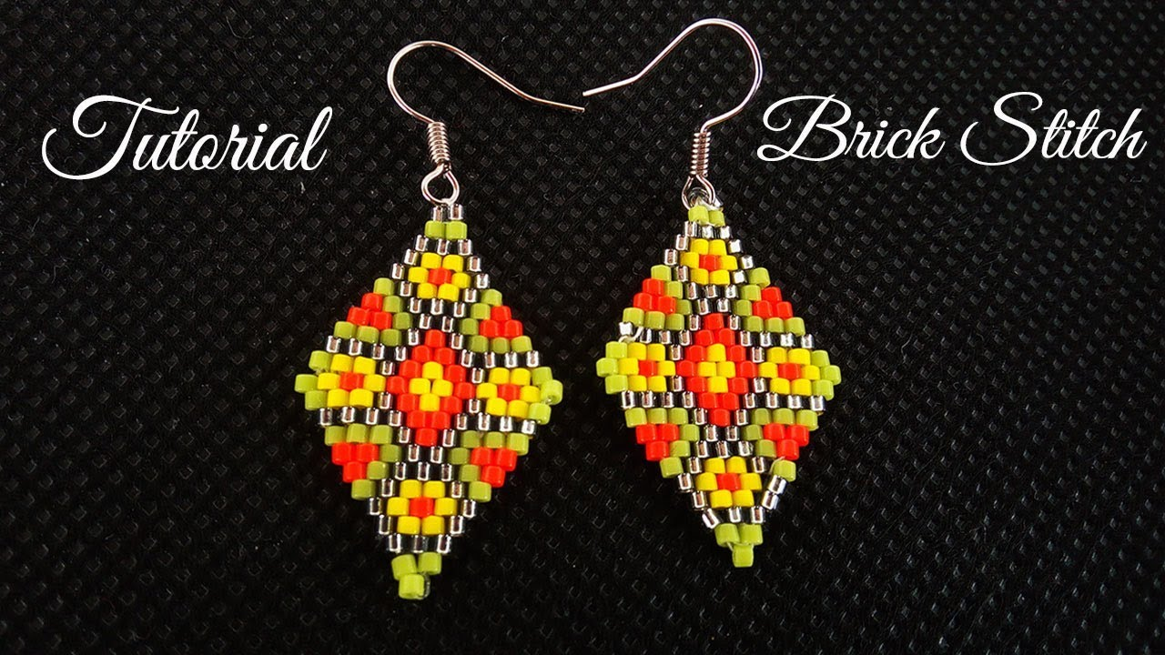 brick youtube tutorial stitch watch with anemone earrings beading