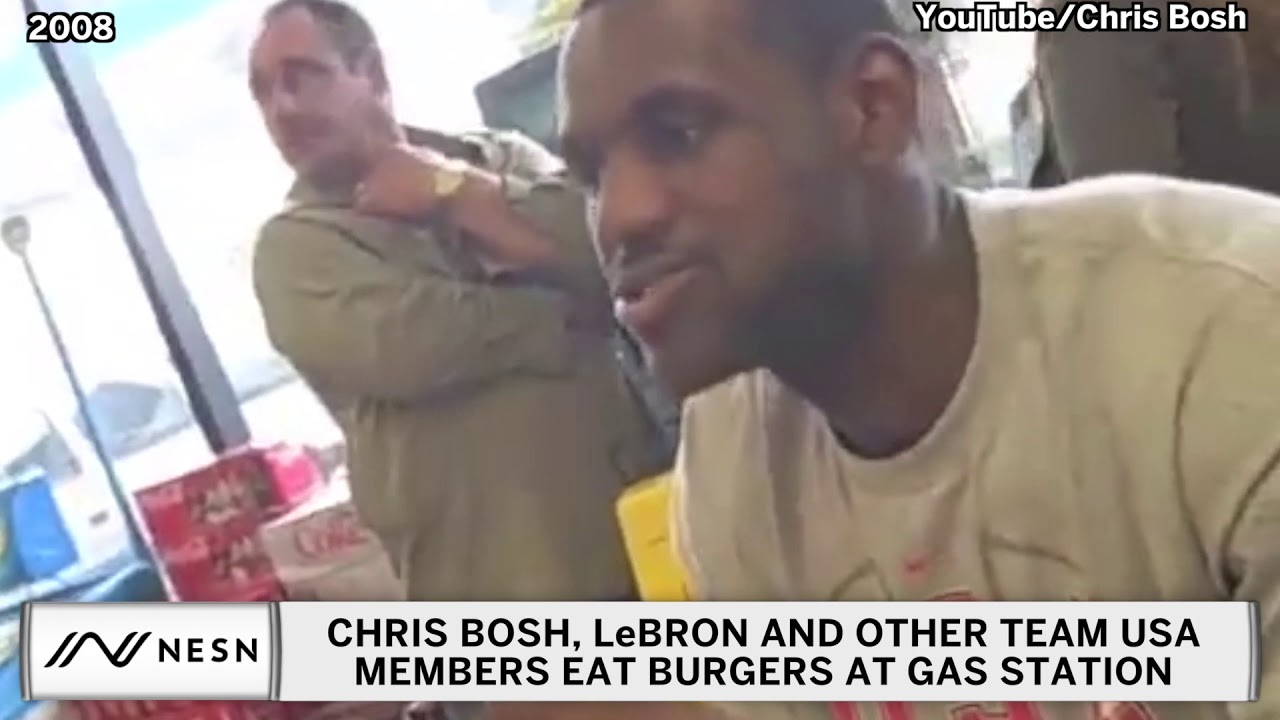 LeBron James, Team USA Crush Burgers At Gas Station Before 2008 Olympics
