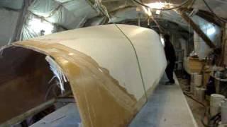 catamaran hull flipping during build