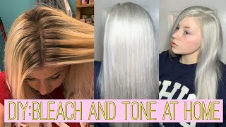 DIY: BLEACH & TONE YOUR HAIR // products you'll need, step-by-step process, and after care!
