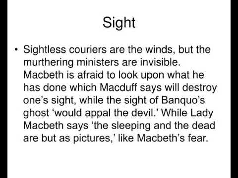 dark imagery in macbeth