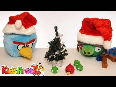 Thumbnail: Toy Car Clown & Angry Birds FIGHT! Funny Cartoons for kids on #KidsFirstTV