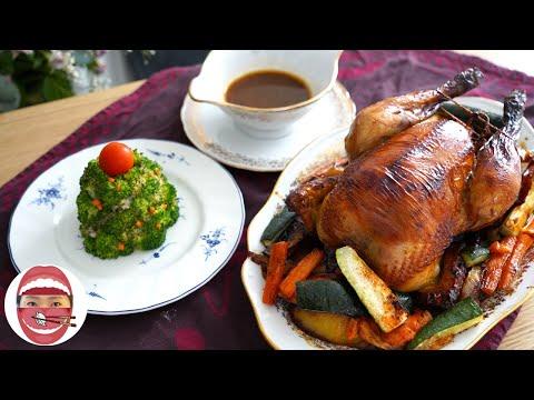 poulet-rôti-accompagnement-en-sapin-pour-repas-de-noël---chinakitcheneva