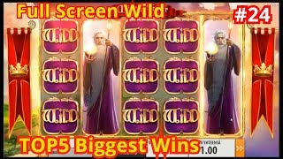 TheBestMoments | TOP5 Biggest Wins #24. Full Screen Wild
