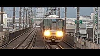 JR湖西線 比叡山坂本駅 新快速3478M列車