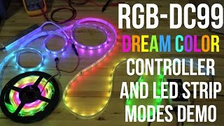 rGB-DC99 Dream Color Controller and LED Strip Modes Demo from superbrightleds.com