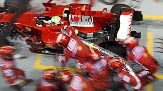 Singapore GP 2008 Ferrari Massa Pit Stop Distaster