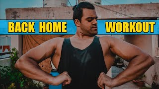 Home Back Workout - with Dumbbell ??