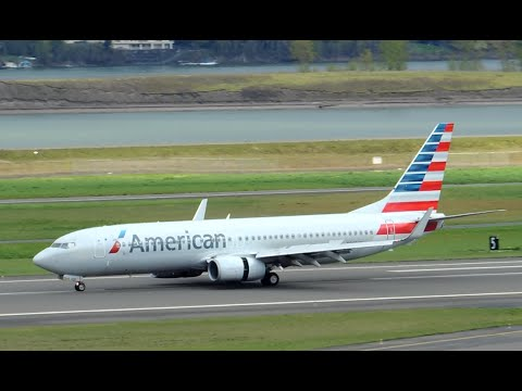 American Airlines Boeing 737-800 [N969AN] Landing In PDX