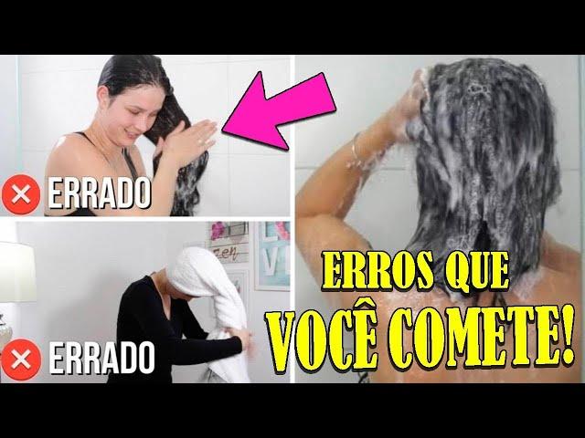 10 ERROS QUE VOCÊ COMETE AO LAVAR OS CABELOS, PARE AGORA!!!