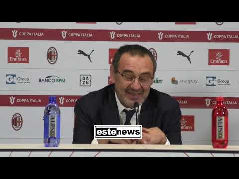 "Milan-Juve 1-1, Sarri: ""Rigore clamoroso. Polemica con Poste Italiane ridicola"""