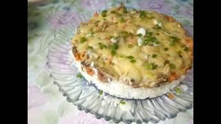 Кальмары с рисом,грибами и сыром! Очень вкусно !