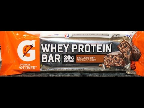 Gatorade Chocolate Chip Whey Protein Bar Review