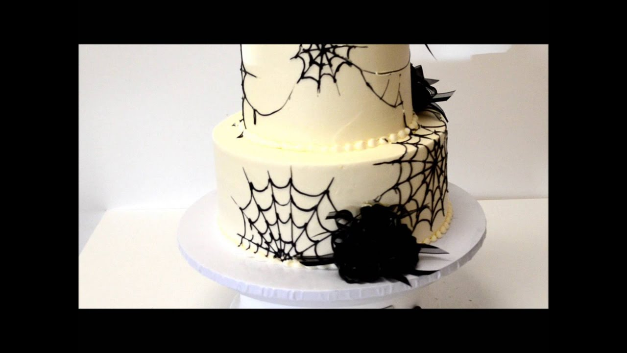 halloween wedding cake spider theme cake - Halloween Wedding Cakes Pictures