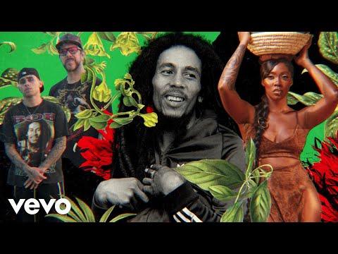 Смотреть клип Bob Marley & The Wailers Ft. Tiwa Savage - Jamming