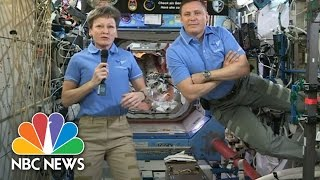 President Donald Trump Calls International Space Station To Congratulate Astronaut | NBC News