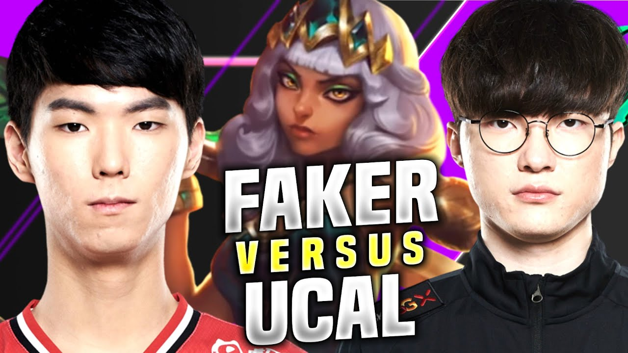 Faker Plays Qiyana Against KT Ucal! - T1 Faker Plays Qiyana vs Ucal Akali Mid! | KR Patch 10.15