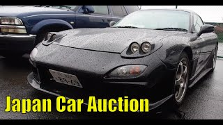 Another Japan Car Auction Video - Classic JDM, Tesla, S63 AMG, School bus, RX-7, 993