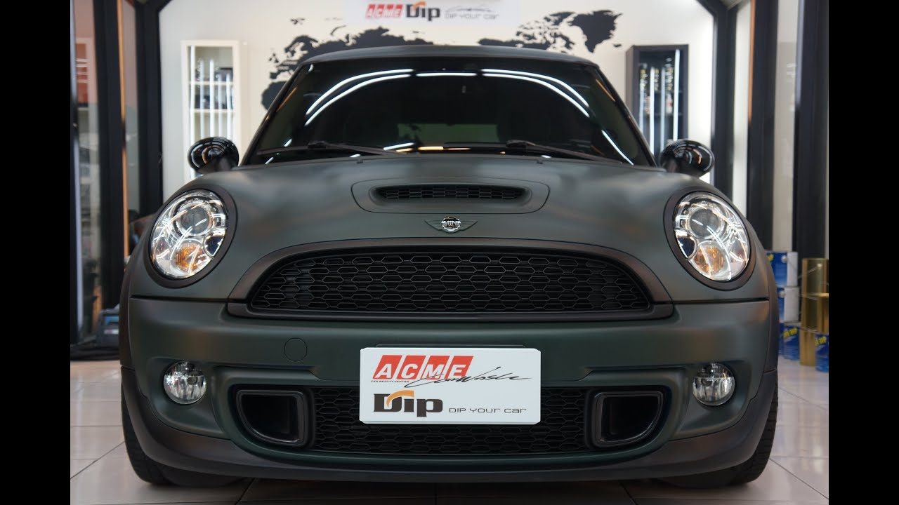 r56 mini cooper s plasti dip made by acme youtube. Black Bedroom Furniture Sets. Home Design Ideas