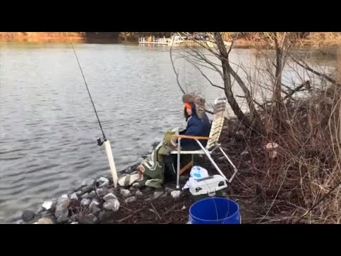 2020 Delaware Rainbow Trout Sussex County Opening Day (catch, Clean, Cook) In The Cold!