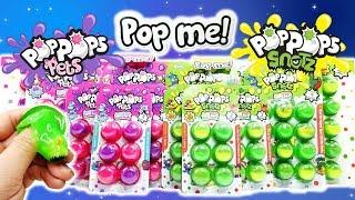 Pop the Bubbles Pop Pops Pets and Pop Pops Snots Slime surprise!