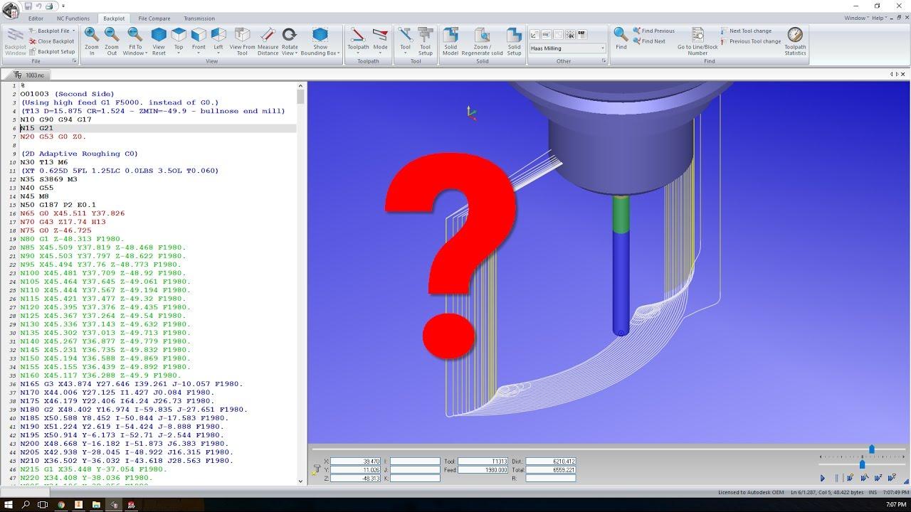 Getting your Inventor HSM / HSMWorks HSM Edit Backplot Back
