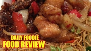 Panda Express Combo Review - Beijing Beef, Sweet Fire Chicken, Chow Mein, Unwrapping #foodreview