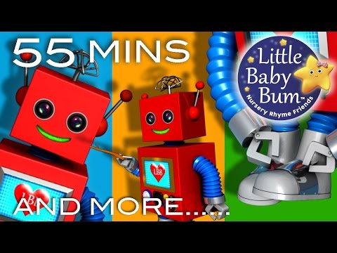 One Two Buckle My Shoe | And More Nursery Rhymes | 55 Minutes Compilation from LittleBabyBum!
