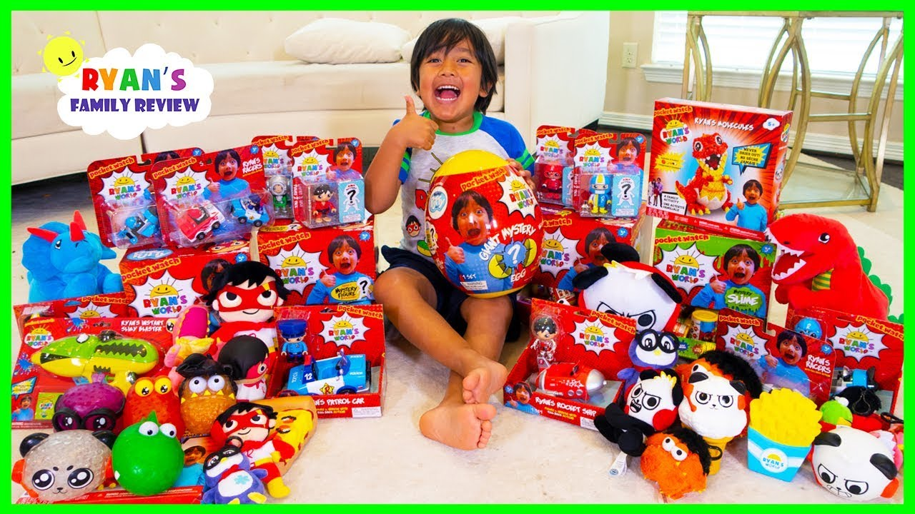 Surprise Ryan With All Of His New Toys And Merch Ryan S