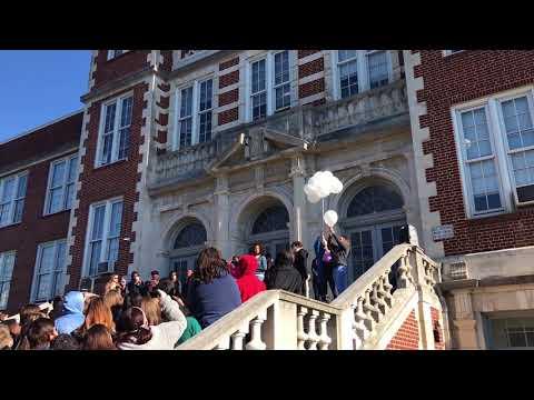 Students sing during walkout at CSAS