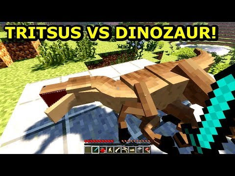 Minecraft Park Jurajski 2- UPOLOWAŁEM DINOZAURA! Tritsus & Zielony Steve