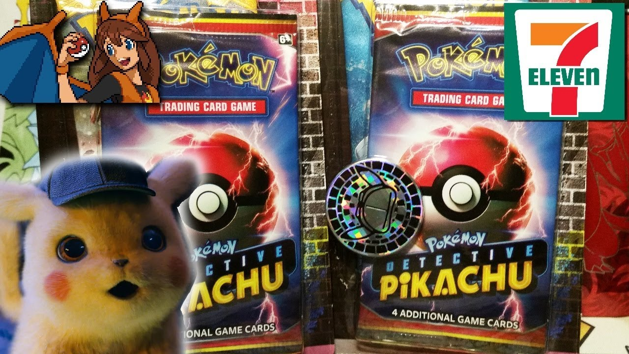 Detective Pikachu At 7 Eleven Opening Two Exclusive Detective Pikachu Pokemon Card Blister Packs Youtube