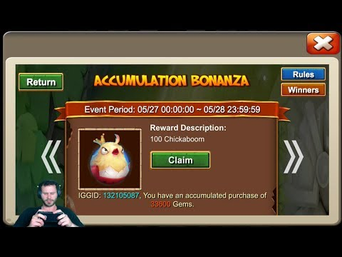 JT's Main Purchasing ChickaBoom Accumalation + Events For AnubiS Castle Clash
