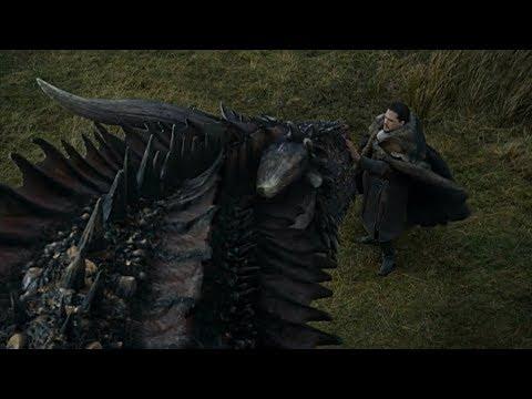 Джон Сноу и Дрогон. (Игра Престолов 7 сезон 5 серия)
