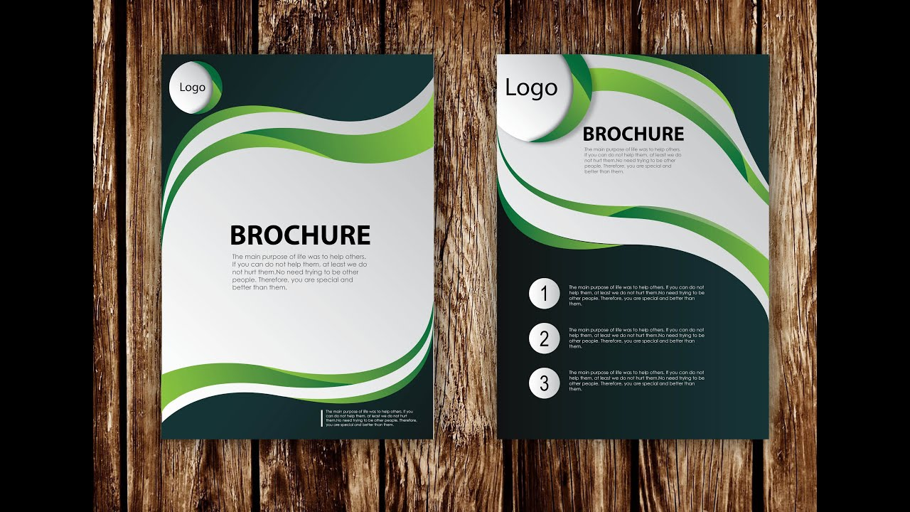 brochure templates adobe illustrator - how to design brochure vector using adobe illustrator