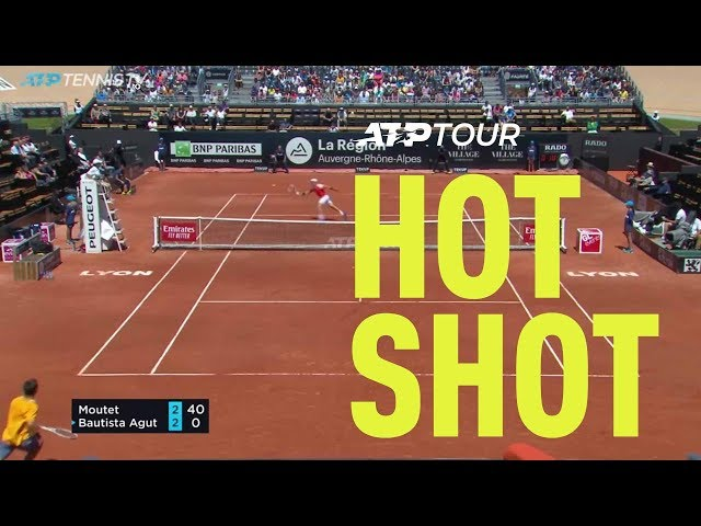 Hot Shot: Moutet Defends To Break | Lyon 2019