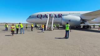Qatar Airways Inaugural Flight to Windhoek, Namibia