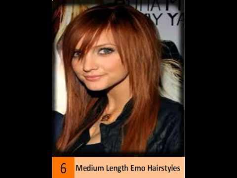 emo hairstyles medium length
