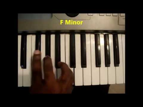 How To Play F Minor Chord Fm F Min On Piano And Keyboard Youtube
