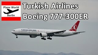 Turkish Airlines Boeing 777-300ER landing at San Francisco Airport