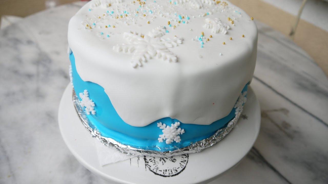 DIY Torte dekorieren mit Fondant  selber machen Frozen
