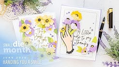 Spellbinders June 2020 Small Die Of The Month - Handing You a Smile