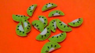 Membuat Hiasan Toples Flanel [buah kiwi]-Erika Flannel Craft