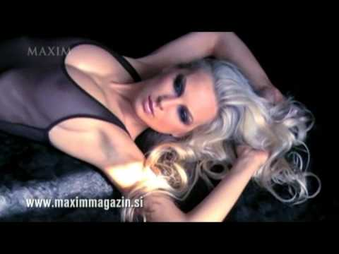 Maja Rejec Maxim Magazine Shoot with fashion photographer Aleš Bravničar