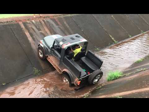 Mahindra Thar at its Best Canal Crossing