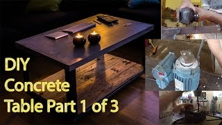 Diy Concrete Table Part 1 - Vibrating Table.