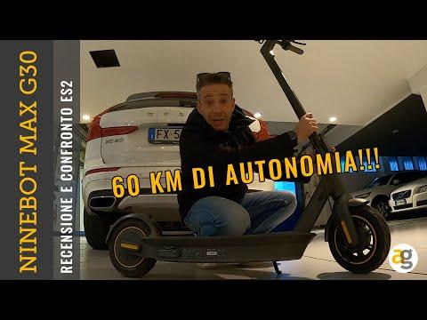 RECENSIONE MONOPATTINO NINEBOT MAX G30 e CONFRONTO ES2