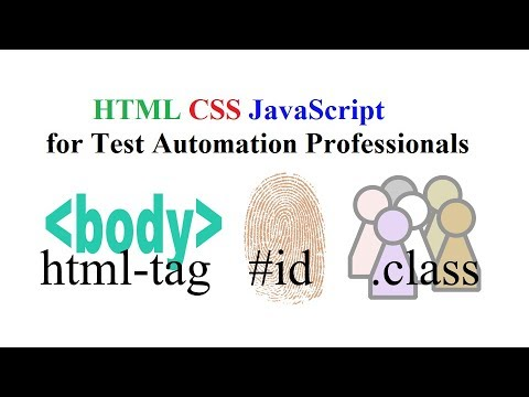 HTML CSS JavaScript For Test Automation Professional