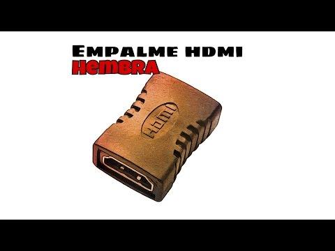 Video de Empalme HDMI hembra  Negro